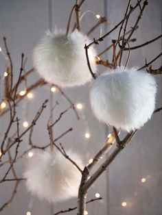 Carefully handmade from sumptuous longhair ivory sheepskin in the UK, this beautiful sheepskin pompom makes the perfect festive decoration or gift. Complete with a leather loop for hanging from your tree, doorknob or around your keys; treat yourself to a Natural Christmas, Noel Christmas, Beautiful Christmas, Winter Christmas, Winter Holidays, All Things Christmas, Christmas Crafts, Christmas Ornaments, Festival Decorations