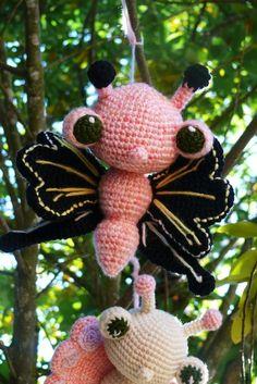 Fluttering Butterfly Crochet Pattern PDF by voodoomaggie on Etsy, $5.00