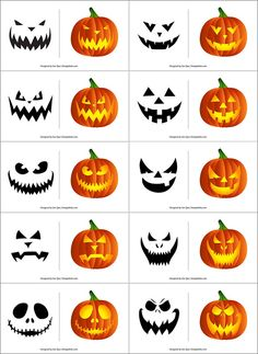220+ Free Printable Halloween Pumpkin Carving Stencils, Patterns, Designs, Faces & Ideas