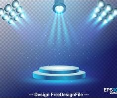 Spotlight vector that illuminates the stage Stage Spotlights, Vector Background, Rainbow, Free, Rain Bow, Rainbows