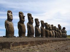 Easter Island, Chile, it's 163 square kilometers, is intriguing – if not somewhat eerie – inhabited by the 887 moai statues. Built between 1110 and 1680 AD, the maoi statues are said to have been built out of respect for the elders and deceased of tribes on the island.