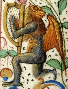 Winged hybrid animal playing harp | Breviary | France, ca. 1511 | The Morgan Library & Museum