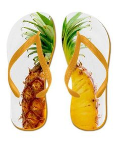 7f14a4139363 AlyWear  Juicy Pineapple Flip Flops Flip Flops  Great summer image of a  juicy pineapple on your flip flops! Pineapple lovers will go crazy for  these!
