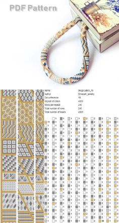 Patchwork bead crochet rope pattern, seed bead necklace pattern, Geometric beadwork bracelet, make necklace master Class jewelry Statement Bead Crochet Patterns, Bead Crochet Rope, Beading Patterns, Beaded Crochet, Beaded Necklace Patterns, Crochet Beaded Bracelets, Seed Bead Necklace, Bead Earrings, Necklace Tutorial