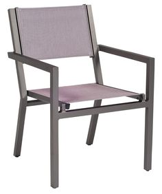 "Woodard Outdoor - Palm Coast Dining Arm Chair - Stacking  #570417 material: Aluminum Height: 34"" Width: 27"" Depth: 28"""