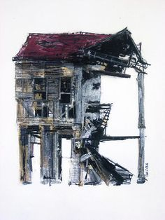 Home Design Drawing Abandoned IV Drawing - Seth Clark - Building Drawing, Building Art, Decay Art, Art Alevel, Derelict Buildings, A Level Art, Level 3, Architectural Features, Gcse Art