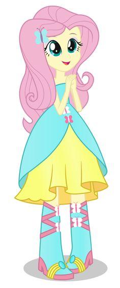 (Equestria girls) Fluttershy formal dress