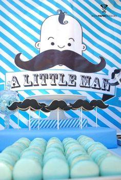 Chá de bebê Mustache - Ideias para você se inspirar!