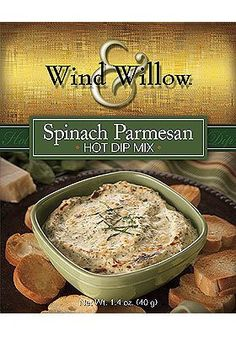 Spinach and Parmesan hot dip mix, from Wind & Willow.