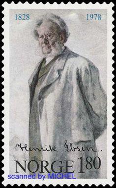 Norwegen 1978 Henrik Ibsen MiNr. 765 Briefmarke