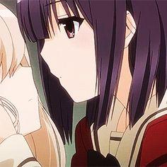 matching (1/2) — dm for cred/removal on We Heart It Anime Couple Kiss, Anime Kiss, Anime Girlxgirl, Yuri Anime, Cute Lesbian Couples, Cute Anime Couples, Anime Couples Drawings, Couple Drawings, Yuri Gif