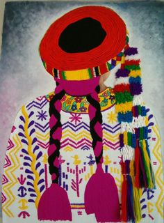 Bordados de Guatemala Guatemalan Art, Guatemalan Textiles, Embroidery Flowers Pattern, Flower Patterns, Sketch Painting, Body Painting, Muse Art, Mesoamerican, Vintage Travel Posters
