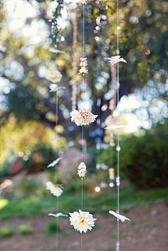 garland for ceremony backdrop