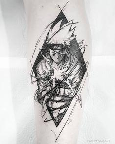 By caio cesar art tattoo ideas naruto tattoo, kakashi tattoo Anime Tattoos, Body Art Tattoos, New Tattoos, Sleeve Tattoos, Tattoos For Guys, Cool Tattoos, Naruto Kakashi, Naruto Shippuden Anime, Naruto Art