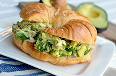 Avocado Chicken Salad Sandwich.