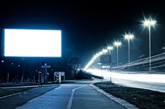 Bilboard at the night #Image #Photo 30 Days FREE $4.95 per month after 30 days