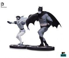 New Images of Batman Black & White Batman And Robin Statues