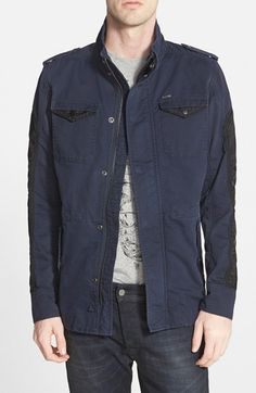 Men's DIESEL 'Niraw' Twill Military Jacket