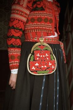 Kjolsäck Delsbo. Hälsingland, Sweden. Swedish Fashion, German Fashion, Folk Costume, Costumes, Swedish Girls, Viking Clothing, Folk Embroidery, Ethnic Fashion, Traditional Dresses