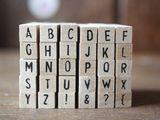 Mini Alphabet Stempel...