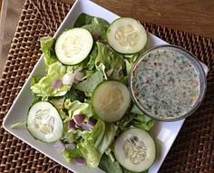 Recipe: Gail Simmons's Mint-Tahini Dressing : I was flipping through the April issue of SELF and had to stop on this tasty recipe! Top Chef judge Gail Simmons shared her Mint-Tahini Dressing Recipe with SELF's Allison Baker and I had to try it! Tahini Salad Dressing, Salad Dressing Recipes, Salad Dressings, Vinaigrette, Salad Recipes, Mint Recipes, Healthy Recipes, Chef Recipes, Healthy Foods