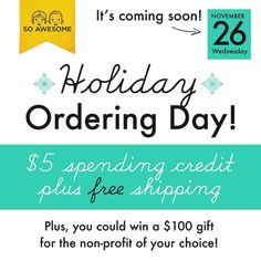 Holiday Ordering Day is coming. Wednesday November 26, 2014. Watch for codes on Facebook! https://www.facebook.com/ChildrensWalletCards