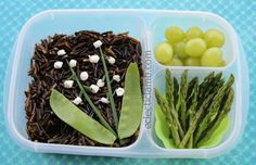 Easy Lunch Boxes Lily of the Valley themed lunch via eclecticlamb.com