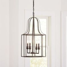 Need new lighting design? See the Rayne Lantern Chandelier at Ballard Designs online and love the bright new rooms in your life! Entryway Light Fixtures, Entryway Lighting, House Lighting, Bar Lighting, Lighting Ideas, Merida, Chandelier Pendant Lights, Chandeliers, Stairwell Chandelier