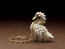 The Dunstable Swan Jewel. Livery badge c. Gold with white and black enamel; in the form of a standing swan with a crown around its neck from which is attached a chain. Victoria And Albert Museum, Antique Jewelry, Vintage Jewelry, Bird Jewelry, Ancient Jewelry, Medieval Embroidery, Renaissance Jewelry, Historical Artifacts, Looks Black
