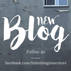 NEW interior design blog! Follow our Little Blog on Facebook where we'll be sharing an in-depth insight of our unique interior styling knowledge.