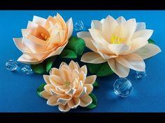 Ribbon lotus:3 ways to make/Lotus de las cintas:3 variantes de hacer/Лотос из лент: 3 варианта - YouTube