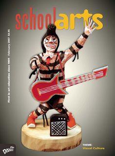 SchoolArts Magazine, February 2007, art education magazine for K-12 art educators, #arteducation, #arted