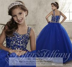 2016 Little Ball Gown Long Girls Pageant Dresses Royal Blue Crystal Beads Size 10 12 Cupcake Plus Size Ritzee Pageant Flower Girls Gowns Crystal Pageant Dresses Girls Pageant Dresses Pageant Dresses For Teens Online with $154.29/Piece on In_marry's Store | DHgate.com