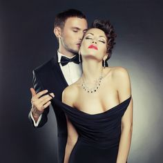 This article teaches how to become an alpha male. You learn how to be an alpha male not just in life, but specifically with women to get them attracted to u Elegant Couple, Glamour, Alpha Male, Sensual, Front Row, Fashion Photo, One Shoulder Wedding Dress, Strapless Dress, At Least