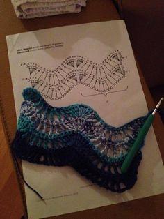 Leuke diagram rechte sjaal haken.