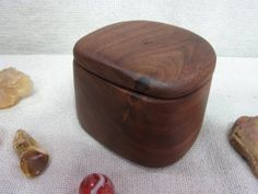 Black Walnut Wooden Box engagement ring box ring by earnestefforts, $17.00