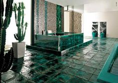 www.giesendesign.com tiling designs bathrooms with cactus plants