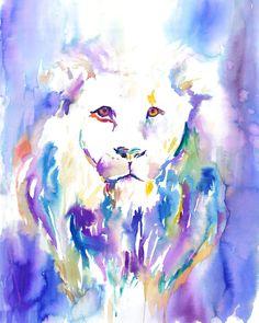 The Lion's Roar by Jessica Buhman Print of by ArtbyJessBuhman, $25.00