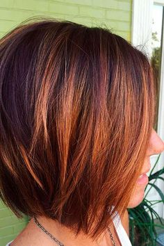 Gestapelte Kupfer Balayage Kurzes Haar