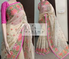 Code:1903186 - Price INR:2600/- , Embroidered Kota Saree.