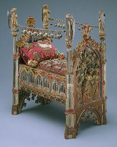 Cradle produced in Brabant, 15th Century.