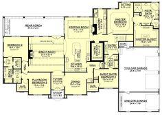 Love the master bath/closet.  European Style House Plan - 4 Beds 3 Baths 3527 Sq/Ft Plan #430-128 Floor Plan - Main Floor Plan - Houseplans.com