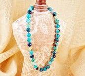 Multi-Blue Agate Necklace | $95.00