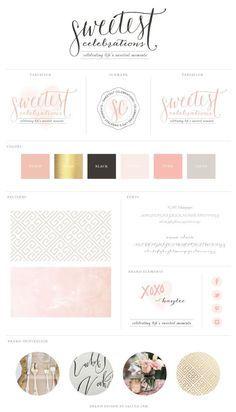 New Brand Launch: Sweetest Celebrations | brand design by saltedink | #brand #logo #brandboard