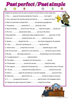 A collection of English ESL Past simple tense worksheets for home learning, online practice, distance learning and English classes to teach about past, perfe. English Grammar Tenses, Teaching English Grammar, English Grammar Worksheets, Grammar Lessons, English Vocabulary, English Study, English Lessons, Learn English, Simple Past Tense Worksheet