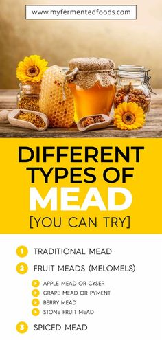 Did you know there are many different types of mead? Apart from traditional mead and spiced mead there are fruit meads also known as melomels. See my post for more details: . Probiotic Foods, Fermented Foods, Honey Mead, How To Make Mead, Mead Recipe, Spicy Drinks, Fermentation Recipes, Stone Fruit, Healthy Recipes