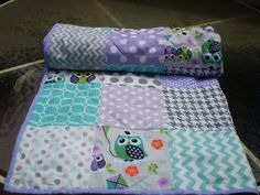 Modern Baby quiltpatchwork crib quiltbaby boy or by happyquilts