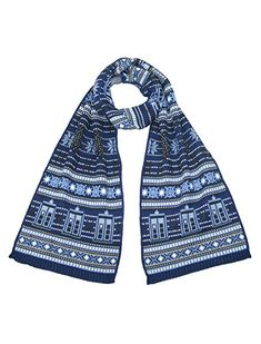 Featuring the TARDIS and Daleks, this is the perfect Christmas Scarf for any discerning #DoctorWho fan!