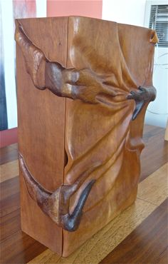 Hand Crafted Wood Cabinet image 8