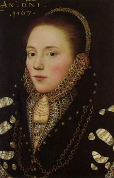 Portrait of a lady with gold chains and gold lined ruff, Master of the Countess of Warwick, 1567